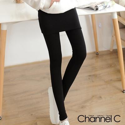 韓系熱銷包臀內搭假兩件-三色-Channel-C