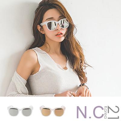 N.C21- 貝殼紋反光太陽眼鏡墨鏡 (共二色)