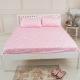 米夢家居-台灣製造-100%精梳純棉單人3.5尺床包兩件組-北極熊粉紅 product thumbnail 1