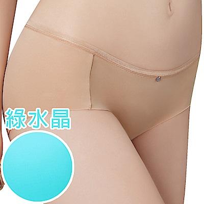 思薇爾 嗨Q Bra系列M-XL素面無痕低腰平口內褲(綠水晶)