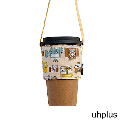 uhplus Love Life 隨行環保飲料袋-小相機(米黃)