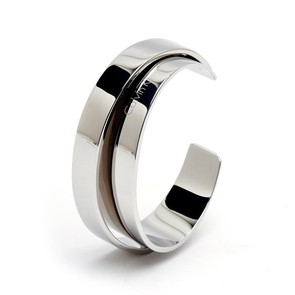 CK Calvin Klein  自信俐落線條時尚款手環