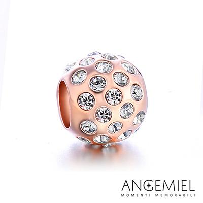 Angemiel安婕米串珠  925 純銀珠飾 固定珠 晶耀(玫瑰金)