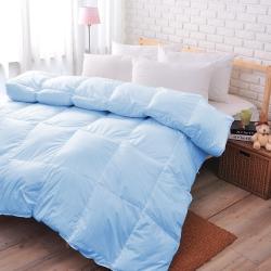 亞曼達Amanda 100%純天然雙人羽絨被--水藍 (1被2枕組合)
