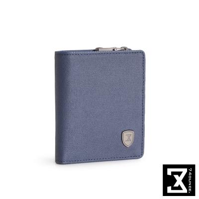 74盎司 FIT 時尚三折短夾(零錢袋)[N-510]藍