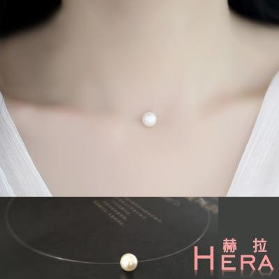 Hera 赫拉  美人魚的眼淚珍珠隱形短項鍊/鎖骨鍊