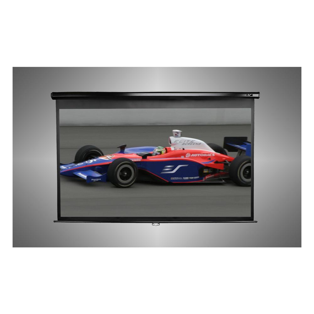 Elite Screens 106吋 16:9 超平整玻纖布手拉幕 加長上黑邊38CM