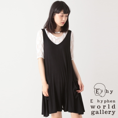 E hyphen world gallery 背心式傘狀褲裙洋裝