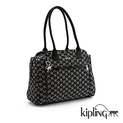Kipling 手提包 時尚黑簡約圖騰-中