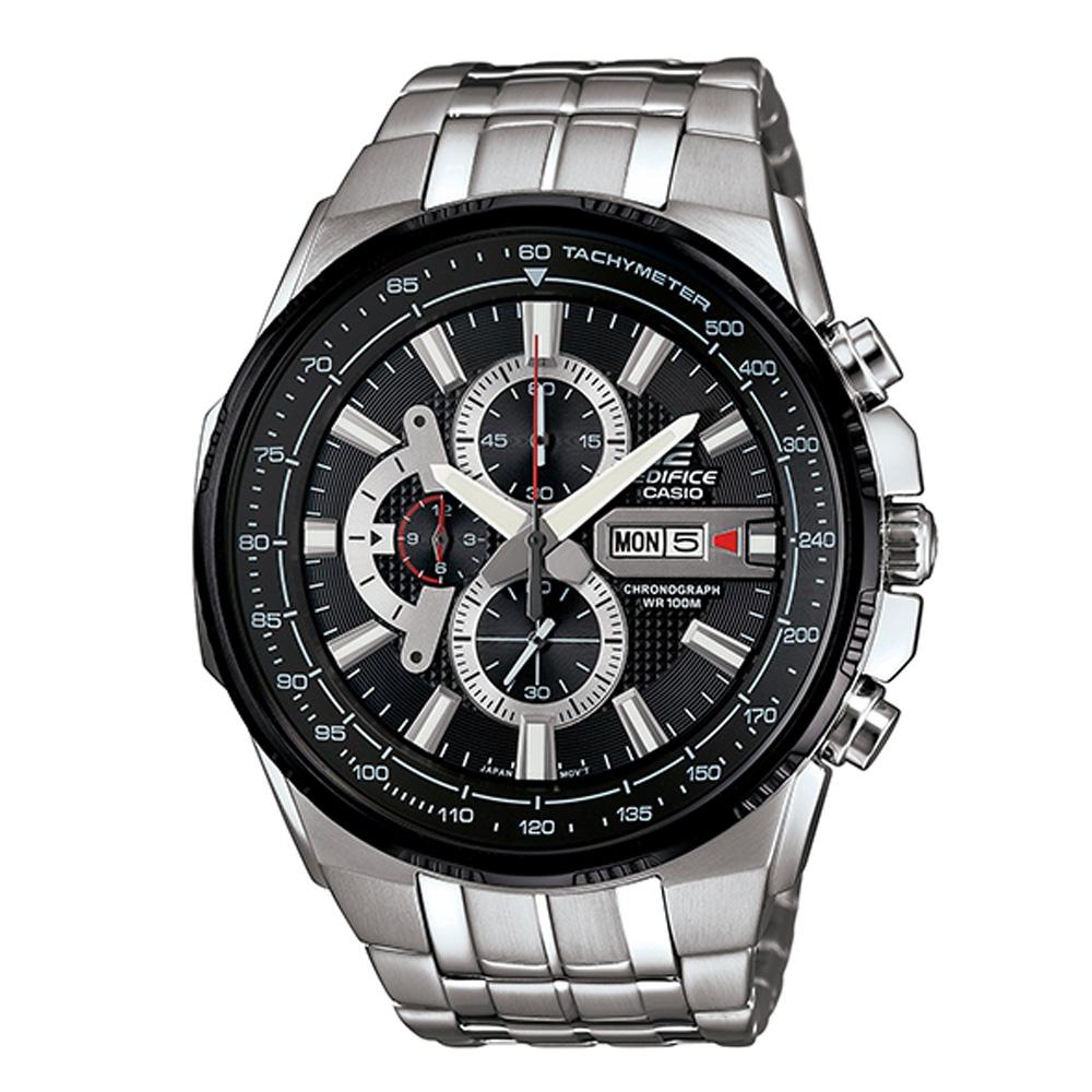 EDIFICE魅力風格時尚科技雙顯賽車錶(EFR-549D-1A8)-低調黑/50.3mm