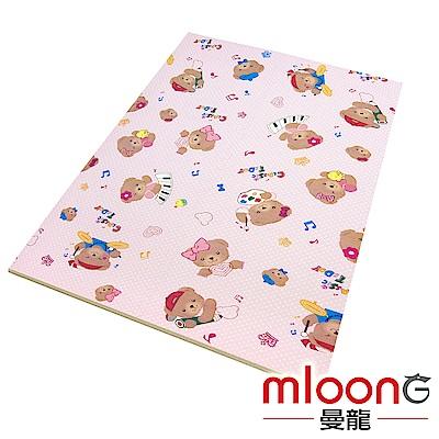 Mloong曼龍 XPE環保無毒巧拼地墊6片組 -曼龍熊 (附邊條x10)