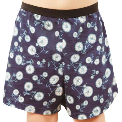 SOLIS 鐵馬之旅系列120-150印花四角男童褲(靛藍色)