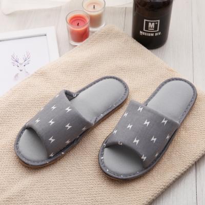 333家居鞋館 北歐系保暖親膚家居布拖鞋-灰色