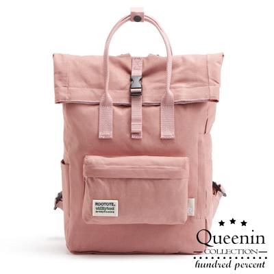 DF Queenin日韓 - 日系陽光女孩專屬反折後背包-共4色