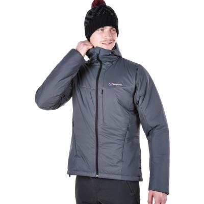 【Berghaus貝豪斯】男款溫度調節超輕高科技棉保暖連帽外套H22MU3-灰