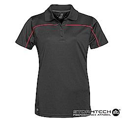 【加拿大STORMTECH】防曬快乾系統線條立領polo衫IPS-2W-女-黑紅