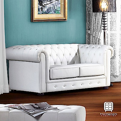 漢妮Hampton艾朵拉新古典純白沙發-雙人沙發