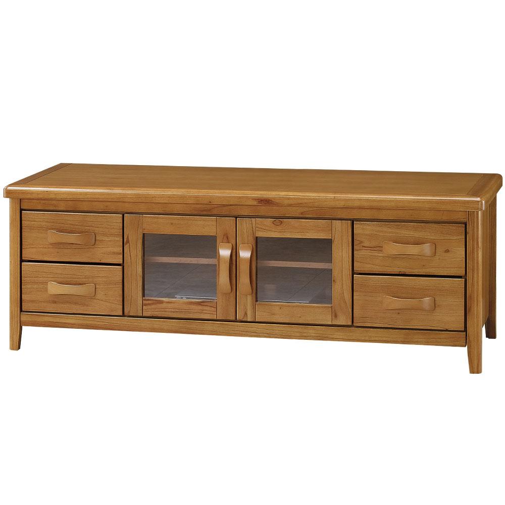 品家居 克莉絲蒂6尺實木長櫃電視櫃