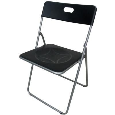 Dr. DIY 高背折疊椅/餐椅/休閒椅/摺疊椅/戶外椅(黑色)-4入/組