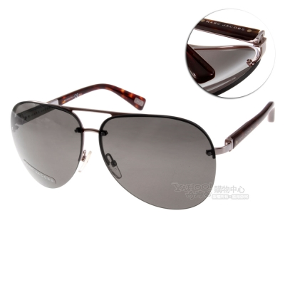 MARC JACOBS太陽眼鏡 時尚飛官款/銀-琥珀#MJ399S CDBEJ