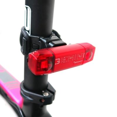 【MOON】 GEMINI R 紅光2顆LED警示燈5段模式鋁合金後燈