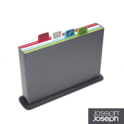 Joseph Joseph 檔案夾止滑砧板(小灰)-附凹槽設計