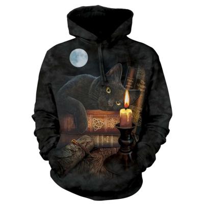 摩達客 美國進口The Mountain 魔法貓時刻 套頭套頭長袖連帽T恤