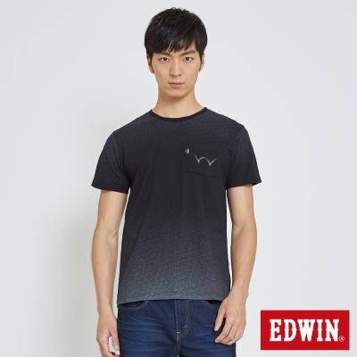 EDWIN 數碼W口袋T恤-男-黑色