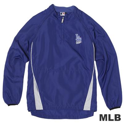 MLB-洛杉磯道奇隊可拆袖防風長袖T恤-藍(男)