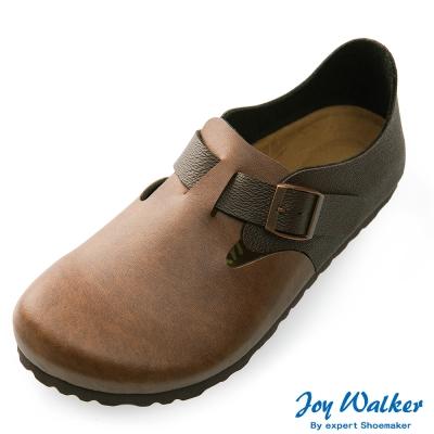 Joy Walker 簡約扣帶休閒包鞋*咖啡
