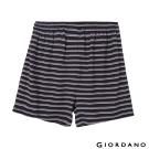 GIORDANO 男裝高品味沈穩條紋配色四角褲 - 86 黑X灰白