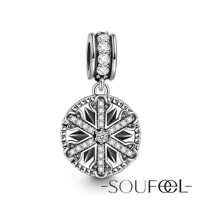 SOUFEEL索菲爾 925純銀珠飾 瑞雪紛飛 吊飾
