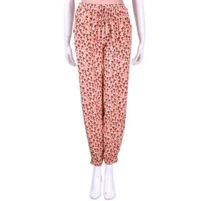 MAX MARA 粉橘色印花設計綁帶長褲
