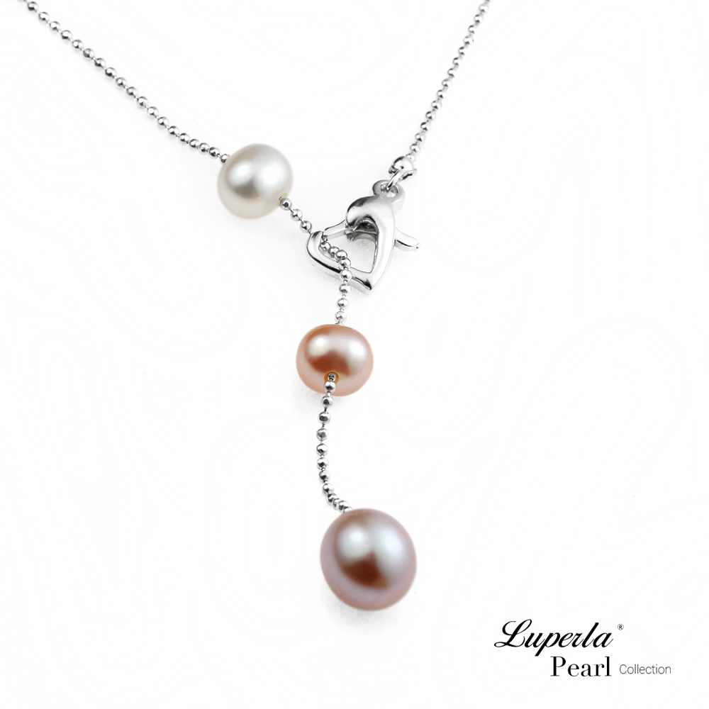 大東山珠寶 214情人節時尚珍珠項鍊-濃情愛心限定版