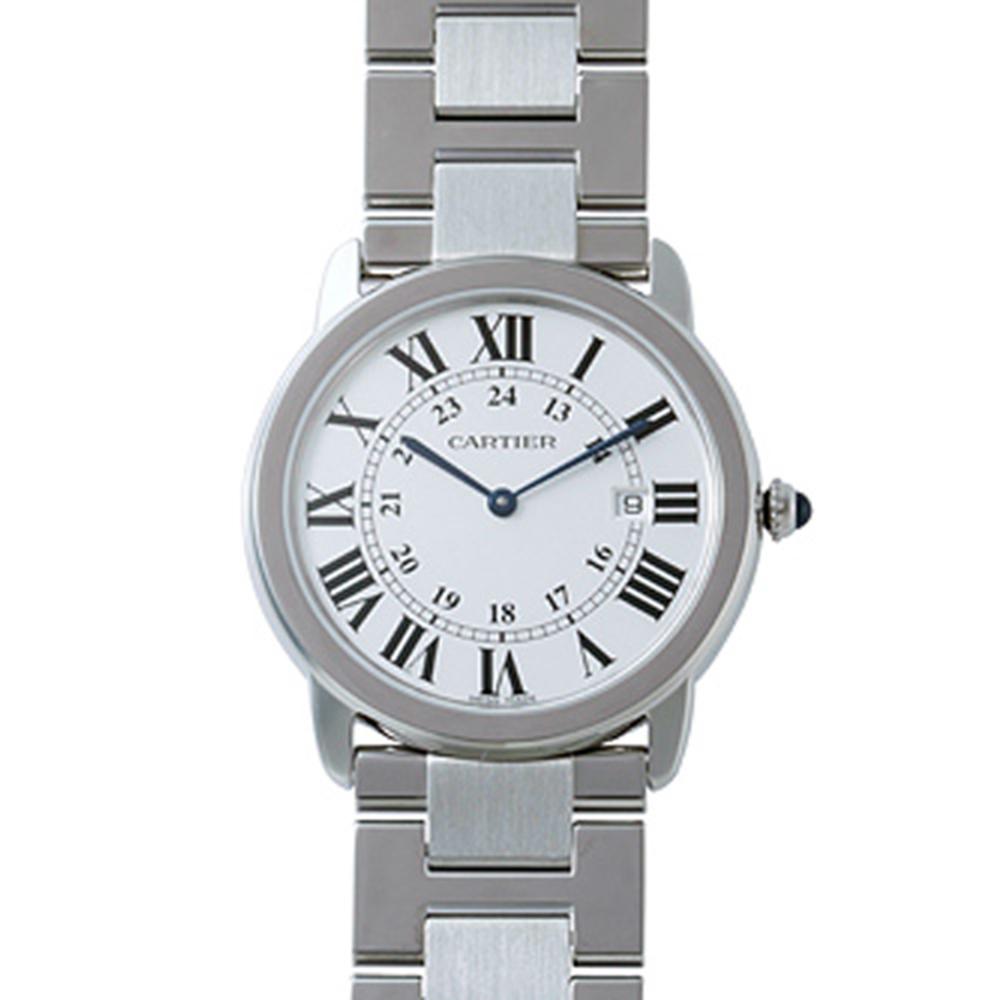 CARTIER RONDE SOLO 經典中型鍊帶腕錶(W6701005)-36mm
