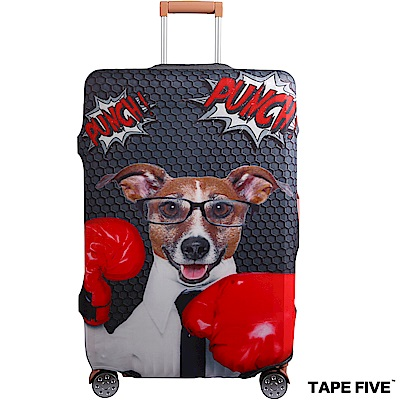 Tape Five 高彈性行李箱套-拳擊狗狗 (適用27-29吋行李箱)