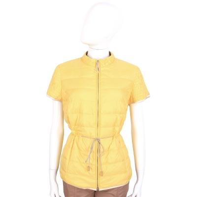 FABIANA FILIPPI 黃色車縫短袖鋪棉外套