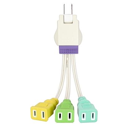 KINYO 1對3插2P任意轉接電源線(PD16)