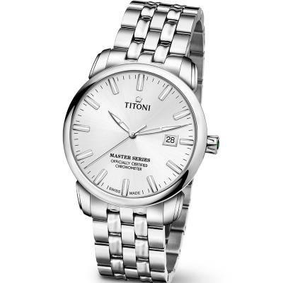 TITONI瑞士梅花錶 大師系列(83188 S-575)-銀/41mm