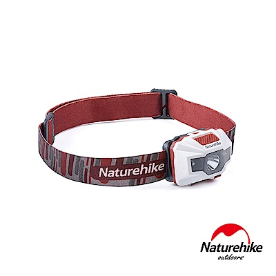 Naturehike 輕便防水USB充電四段式LED頭燈 白紅-急