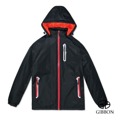 GIBBON 防潑水防風反光條機能外套‧黑色