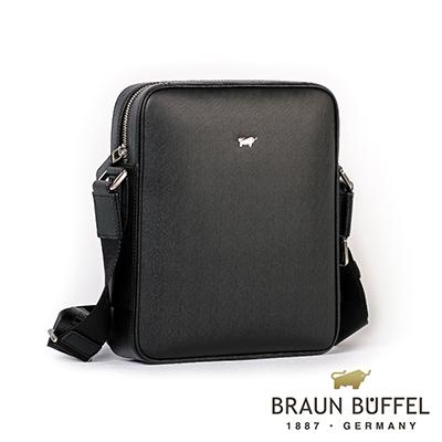 BRAUN BUFFEL - HOMME-M紳士系列極光紋斜背包 - 黯黑