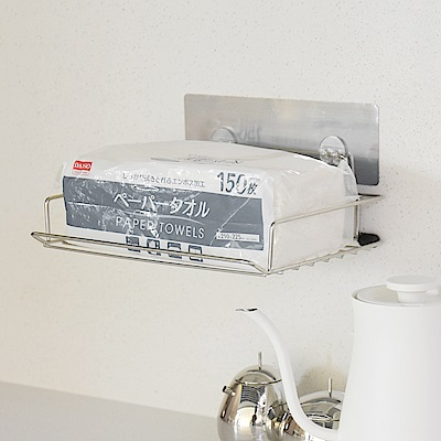 樂貼工坊 衛生紙架/不鏽鋼/金屬貼面-24x18x4cm