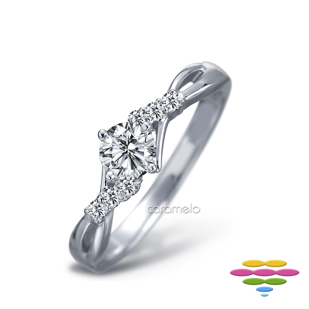 彩糖鑽工坊 19分鑽石戒指 愛的軌跡系列