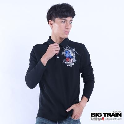 BIG TRAIN 武骨戰魂POLO長袖T-男-黑色