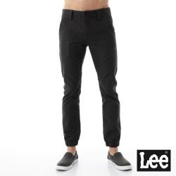 Lee 素色縮口休閒褲-男款-黑灰色