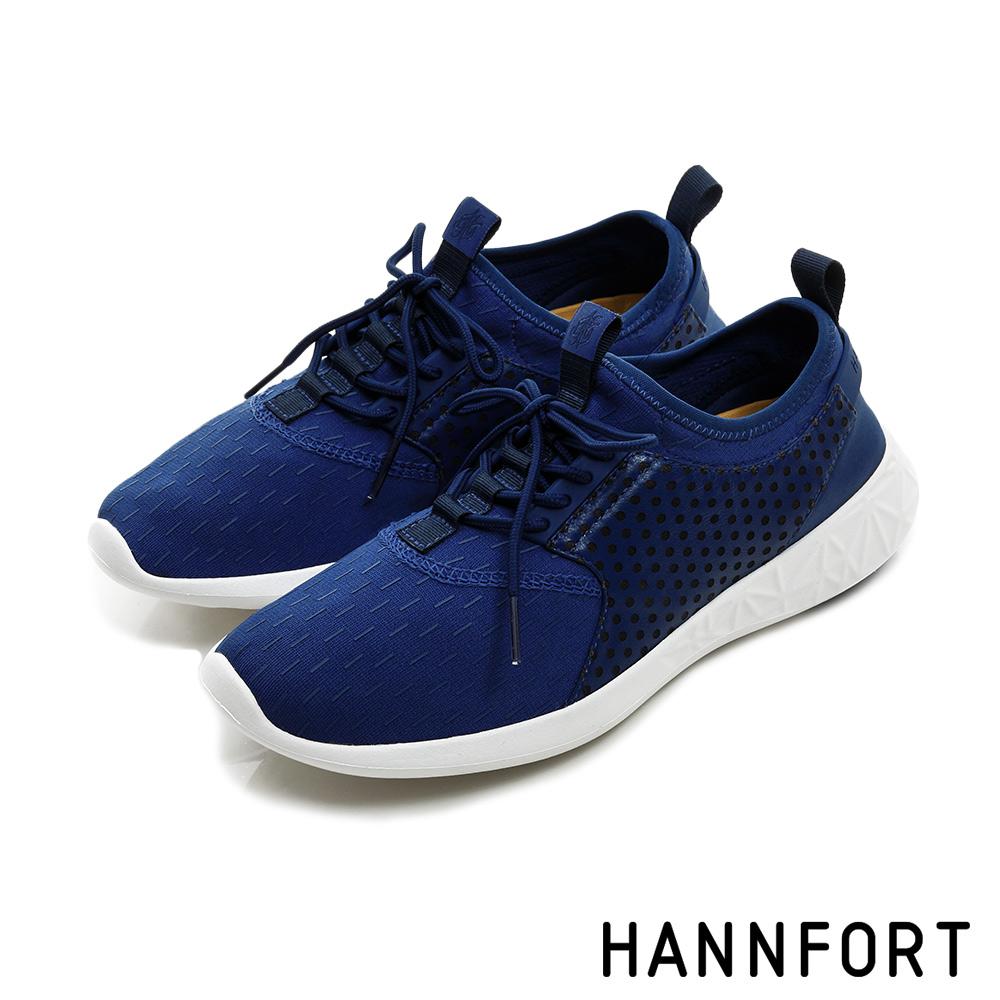 HANNFORT ICE超級凍感運動休閒鞋-女-冰河藍