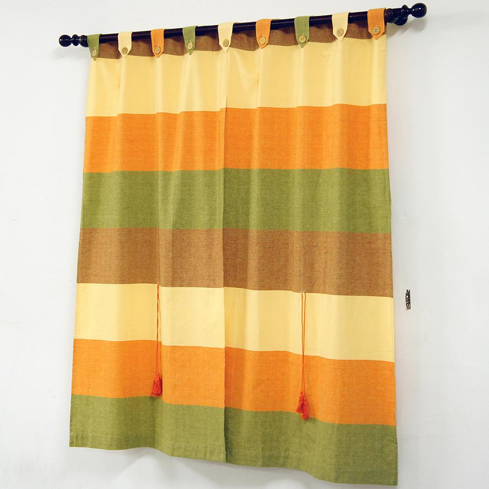 《布安於室》色塊純棉窗簾-古樸色