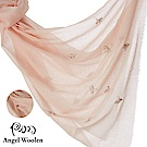 【ANGEL WOOLEN】印度手工法國蕾絲披肩圍巾(俏麗之美-兩色)