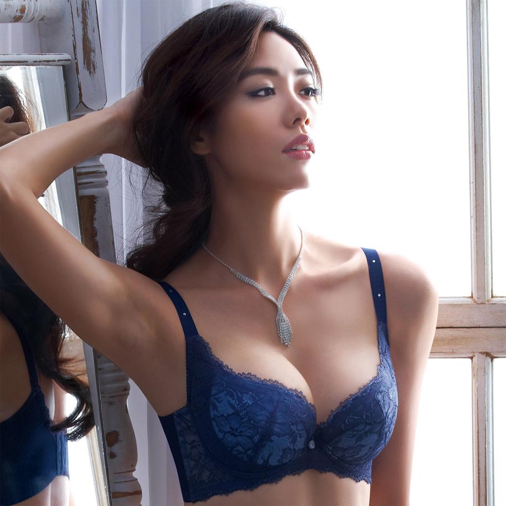 摩奇X-大V美背系列B-C罩杯內衣(瓷器藍)